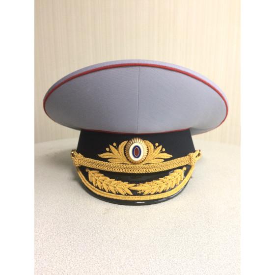 Фуражка генерал Полиция полушерсть парадная модельная золото