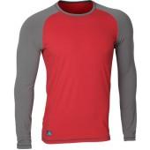 Футболка L/S Africa мод.2 красно-серая