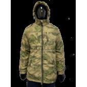 Куртка зимняя РОСГВАРДИЯ без подстежки цвет зеленый мох (ткань рип-стоп)