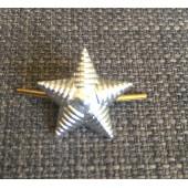 Знак различия Звезда малая рифленая серебро металл