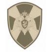 Нашивка на рукав Росгвардия орел полевая вышивка шелк