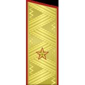 Погоны МО генерал-майор на китель парадные метанит