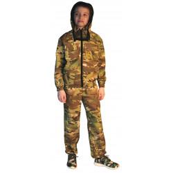 Костюм детский МиниТурист-Антимоскит (Маскхалат), камуфляж, ткань грета Мультикам
