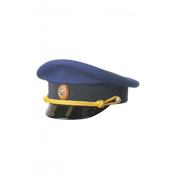 Фуражка ВКС-ВВС офисная синяя габардин