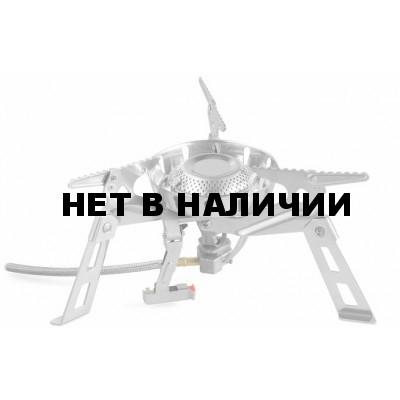 Горелка газовая. кемпинговая с системой ППТ, HARD ROCK FMS-123 Металлик, FMS-123