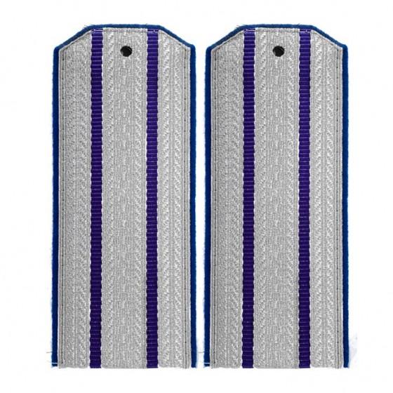 Погоны казачьи офицерского состава 2 синих просвета синий кант