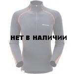 Футболка мужская BIONIC L/S ZIP NECK,L steel/burnt orange, MBLZNS