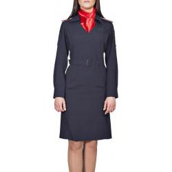 Платье Полиция, длинный рукав, полушерсть ШК70