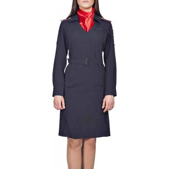 Платье Полиция/Юстиция МВД с длинным рукавом без платка