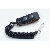 Шнур страховочный карабин-петля черная