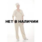 Костюм женский Омела бежевый с кооричневым