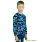 Футболка детская Navy Blue Camo длинный рукав