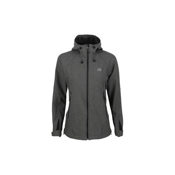 Куртка женская Glory Soft Shell серый меланж