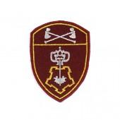 Нашивка на рукав Росгвардия Вневедомственная охрана Приволжского округа повседневная вышивка шелк
