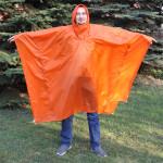 Пончо-тент shell Si/Pu оранжевый