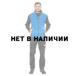 Куртка софтшелл Тайм цвет черный-васильковый