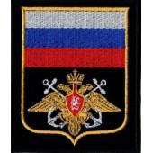 Нашивка на рукав ВС пр 300 ВМФ черный фон вышивка шёлк