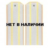 Погоны казачьи офицерского состава 2 желтых просвета желтый кант