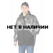 КУРТКА флисовая ПИКНИК цвет:, камуфляж Серый каштан/черный