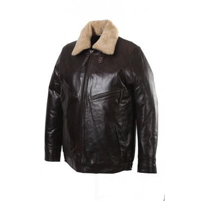 Ретро куртка кожаная