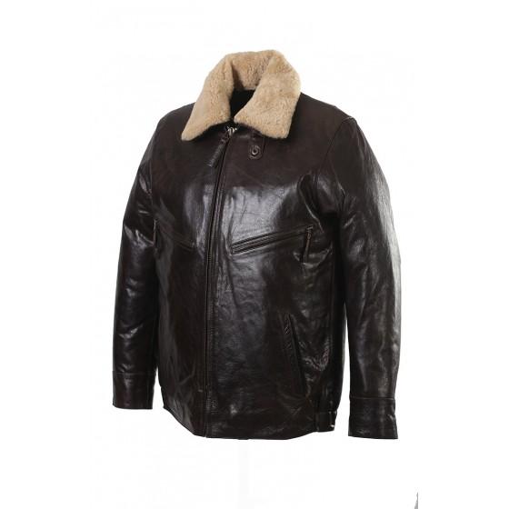 Ретро куртка кожаная, производитель ОКРУГ Купить - Интернет-магазин форменной одежды forma-odezhda.ru