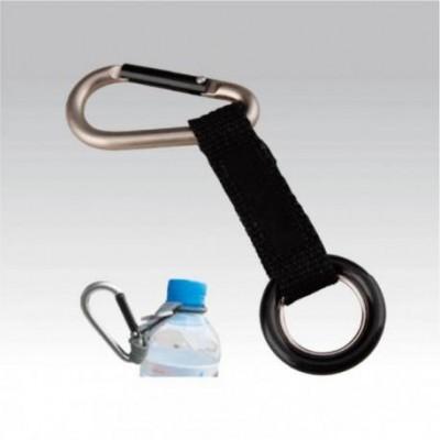 Карабин с петлёй для бутылки (упак=10 шт), 3241