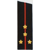 Погоны Береговые части ВМФ вышитые Капитан повседневные со скосом на китель