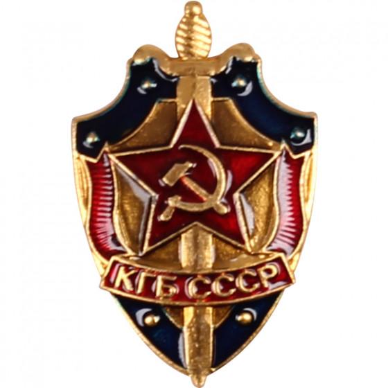 Нагрудный знак КГБ СССР легкий металл