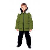 Куртка пуховая для мальчика BASK kids HYPE зеленая