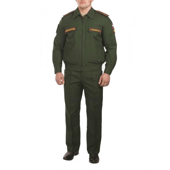 Костюм МО офисный мужской, длинный рукав, зеленый рип-стоп облегченный\сетка