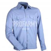 Рубашка форменная, длинный рукав, голубой