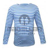 Тельняшка-фуфайка ВДВ голубая полоска (хлопок+эластан)
