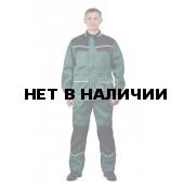 Костюм мужской ПЕРЕДОВИК т-зеленый с черным