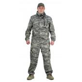 Костюм ТУРИСТ МОСКИТ куртка/брюки, цвет:, камуфляж Цифра св.серый, ткань : Грета
