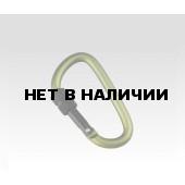 Карабин D-формы с закруч.замком,6*60мм (упак=10 шт), 3246