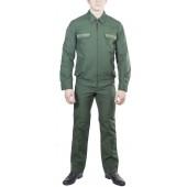 Костюм летний МПА-35-04 с длинным рукавом Сухопутные войска (Зеленый Тропикаль полушерстяной)