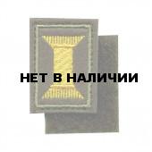 Эмблема петличная с липучкой Офицерского состава вышивка шёлк