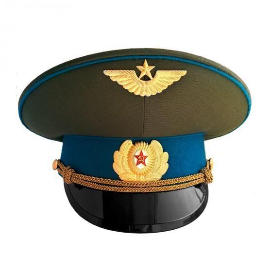 Фуражка ВДВ-ВВС СССР с голубым околышем офицерская уставная