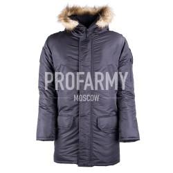 Куртка зимняя Аляска ВМФ офисная черная