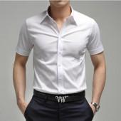 Сорочка мужская, короткий рукав, белая