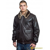 Куртка кожаная меховая 7162 Brown Krispi