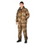 Костюм МАСКХАЛАТ куртка/брюки, цвет:, камуфляж Бежевый пиксель, ткань : Сорочечная