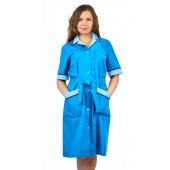 Халат женский Прибой цвет: голубой/св.голубой/василек
