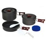 Набор портативной посуды FMC-202, на 2-3 человек из анодированного алюминия