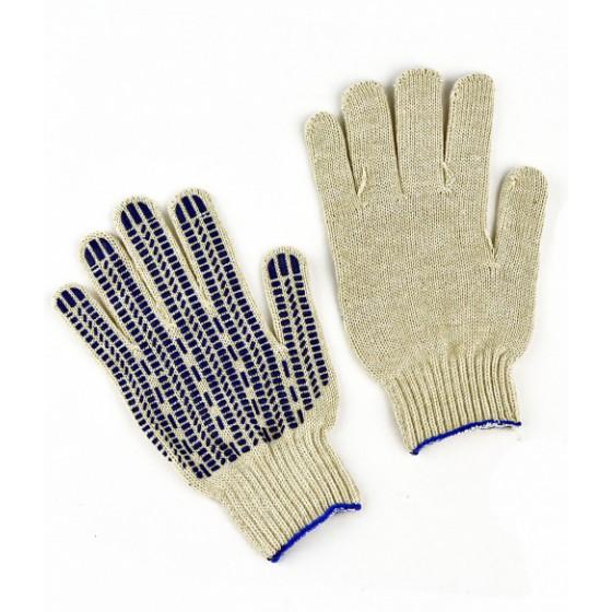 Перчатки трикотажные Аленка х/б, ПВХ Люкс-Протектор