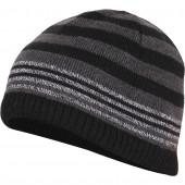 Шапка полушерстяная marhatter MMH 8218/1 чёрно-серый мулине
