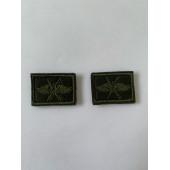 Эмблема петличная с липучкой ВКС полевая вышивка шёлк