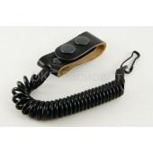 Шнур страховочный 1 карабиншлевка универсальная черный