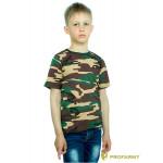 Футболка детская Woodland brown Camo короткий рукав