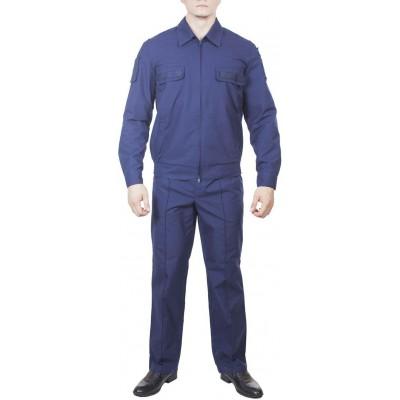 Костюм ВВС-ВДВ повседневный с длинным рукавом синий, ткань Тропикаль полушерстяной